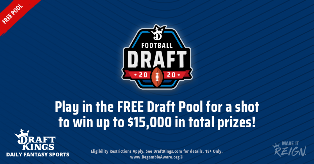 DraftKings NFL Draft Pool King Fantasy Sports KFS