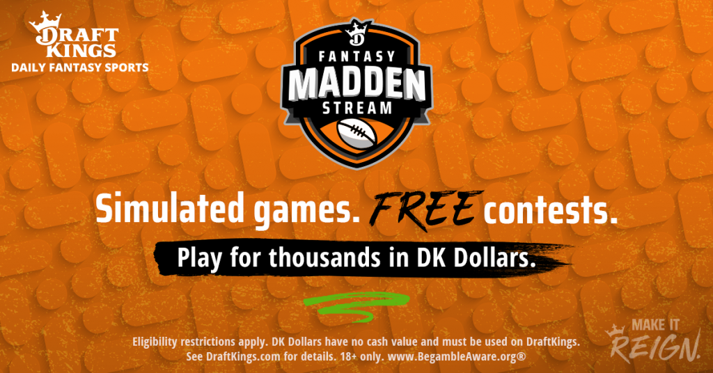 King Fantasy Sports DraftKings Simulated Madden Stream