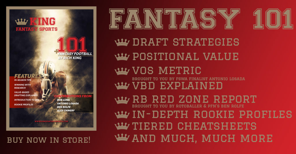 King Fantasy Sports Fantasy 101 Fantasy Football Guide Book