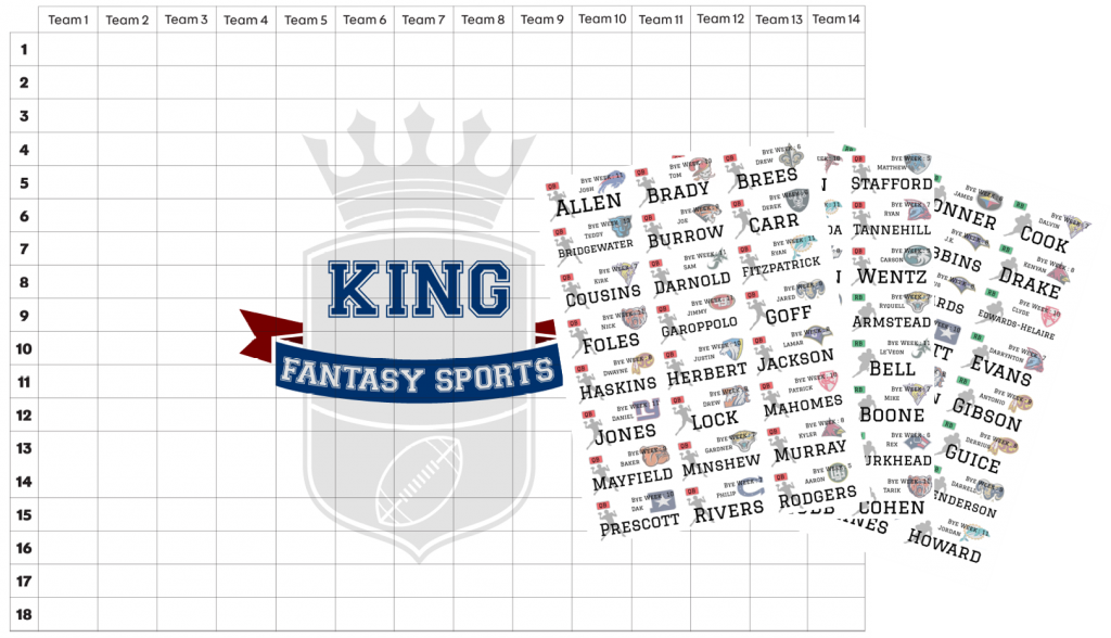 Draft Board 2020 King Fantasy Sports Draft Board UK